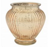 Glass Ginger Jar - Gold Mercury