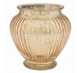 Glass Ginger Jar - Gold Mercury