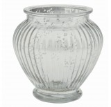 Silver Mercury Glass Ginger Jar