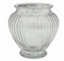 Glass Ginger Jar - Silver Mercury