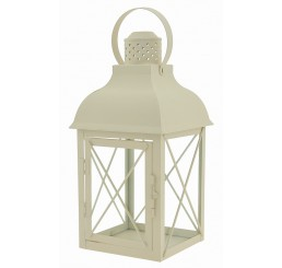 Decorative, Metal Lantern with Latching Door
