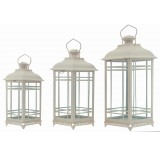 Set/3 Metal Decorative Lanterns