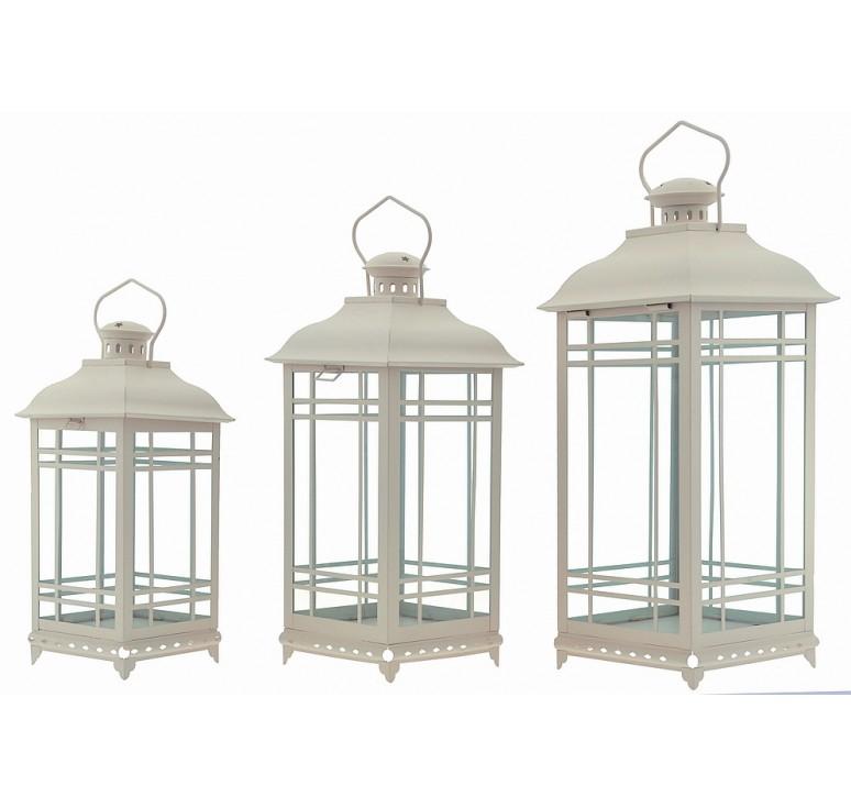 Set/3 Metal Decorative Lanterns