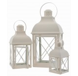 Decorative, Set/3 Metal Lanterns