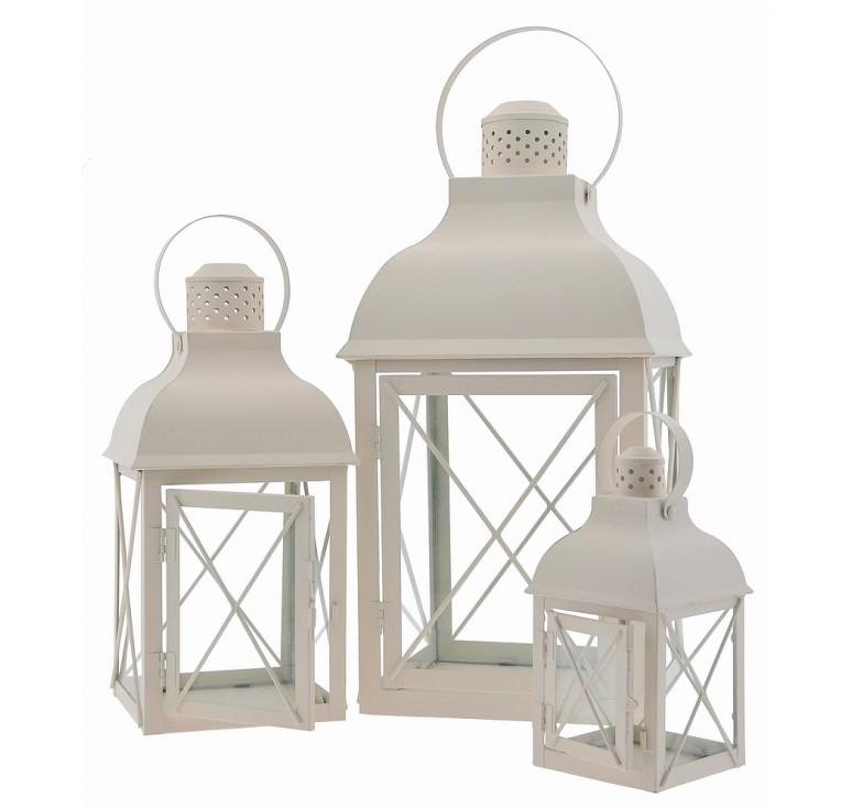 Decorative, Set/3 Metal Lanterns