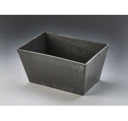 Rectangular Slate-Colored Hard Plastic Container