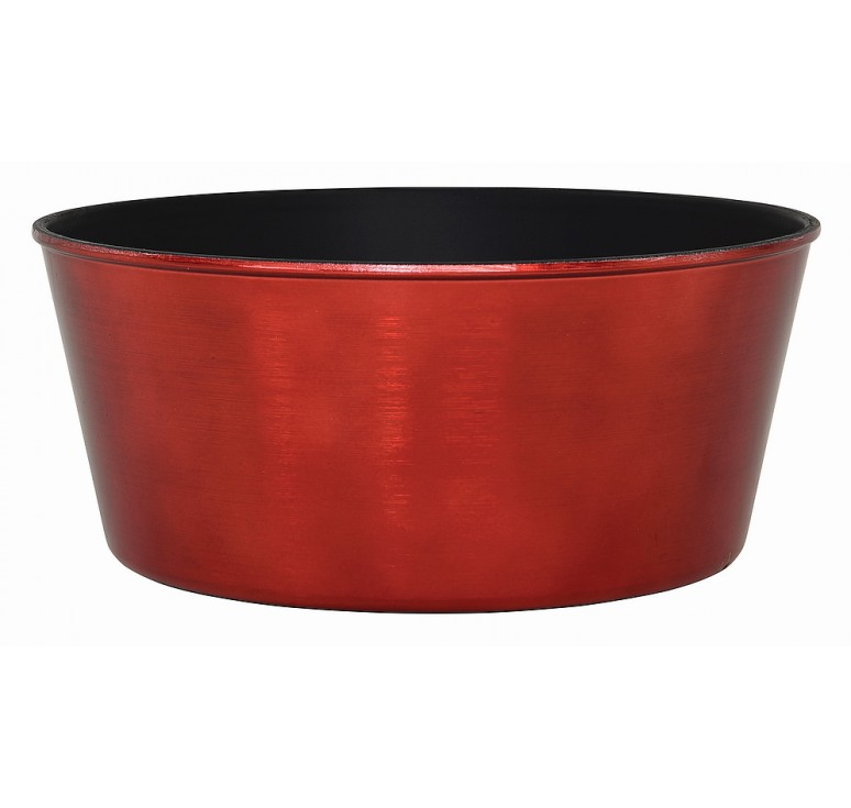 Round, Recycled Plastic Container - Red