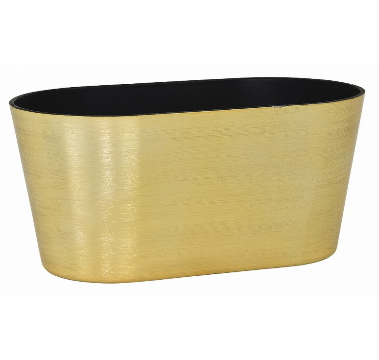 Oval, Recycled Plastic Container - Gold