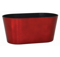 Oval, Recycled Plastic Container - Red