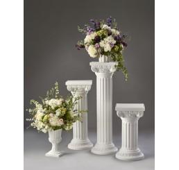 Adjustable, White Plastic Pillar