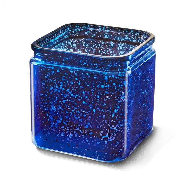Glass Cube - Blue Mercury