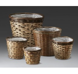 "Bamboo Planter Basket to fit 10"" Plant"