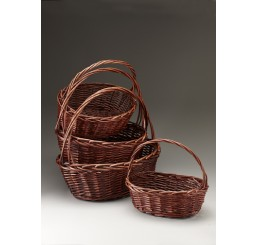 Brown Stain Willow Set/4