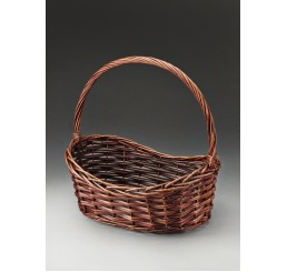 Brown Stain Willow Basket