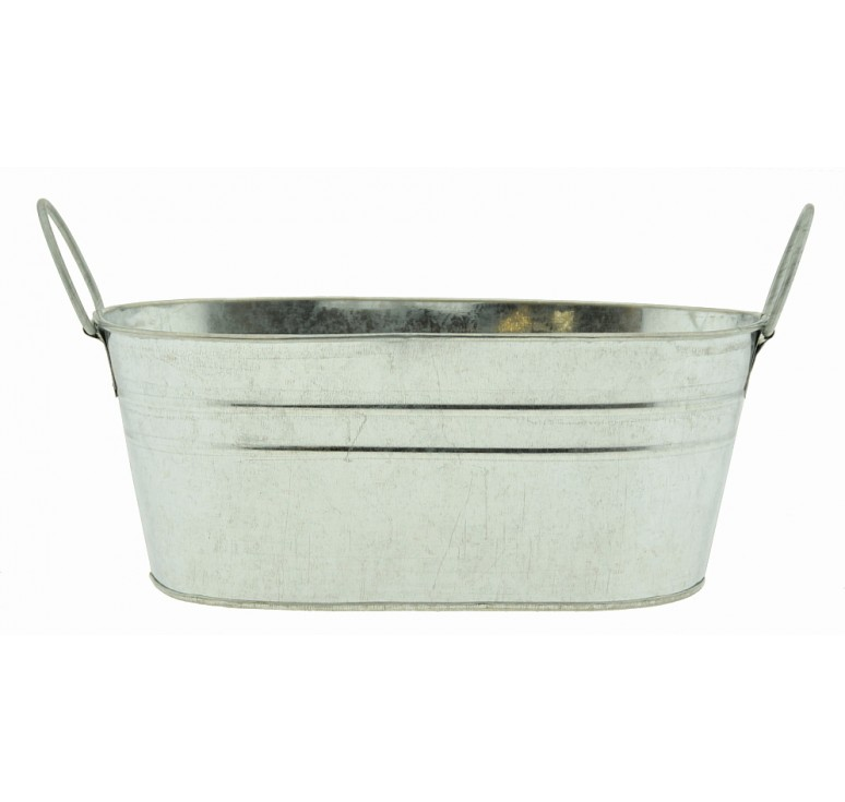 Oval Galvanized Metal Container