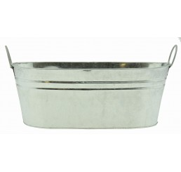 Galvanized Metal Container - Oval