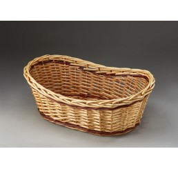 Two-Tone Oblong Willow Basket