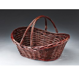 Oval Willow with Double Drop Down Handles-M