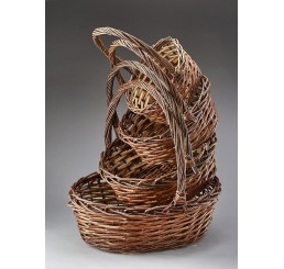 Giant Oval Unpeeled Willow Set/4