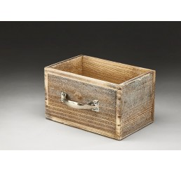 Wooden Drawer with Metal Handle