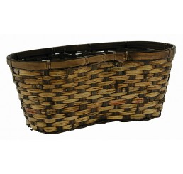 """Bamboo Peanut-Shaped Double 6"""" - Brown Stain"""
