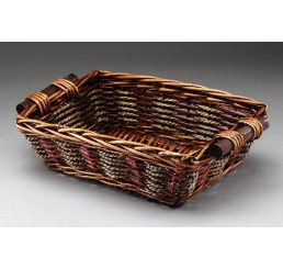 Willow and Rope Tray w/ Wooden Ear Handles