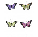 "7.5"" Assorted Color Butterfly Pick"