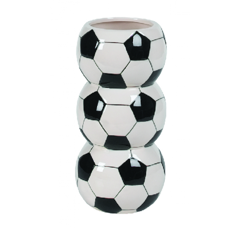 Ceramic Soccer Ball Container
