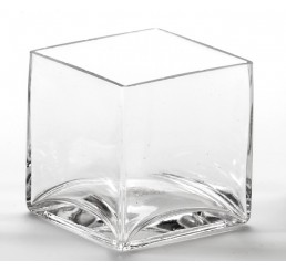 """4"""" Hand Blown Glass Cube *Very Low Inventory"""